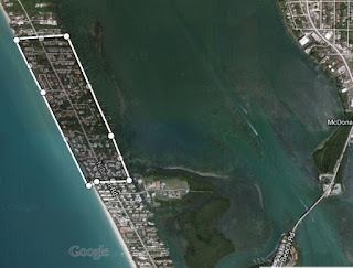 Map of Manasota Key beach erosion
