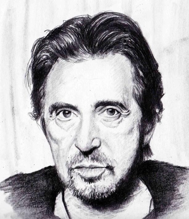 Kara Kalem Portre Ünlü Resimleri & Al Pacino