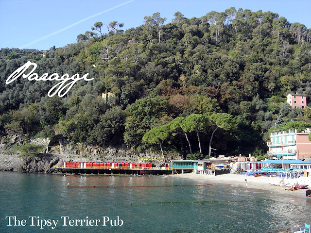 lovely beach walking distance from Portofino, Italy - tipsyterrier.blogspot.com