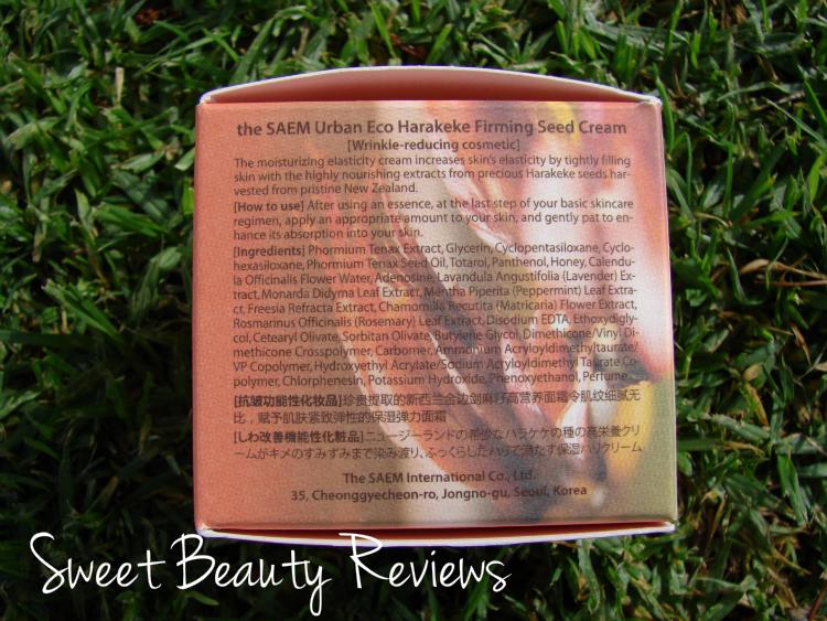 Review, Urban Eco Harakeke Firming Seed Cream, The Saem.