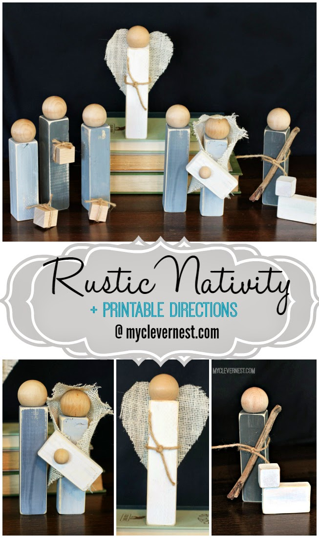 I could never find a nativity set that I liked, until I saw this style! I love it so much! #rustic #nativity #clevernest #woodennativity