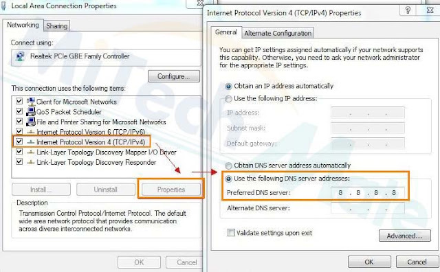 how to set gogle as your dns server