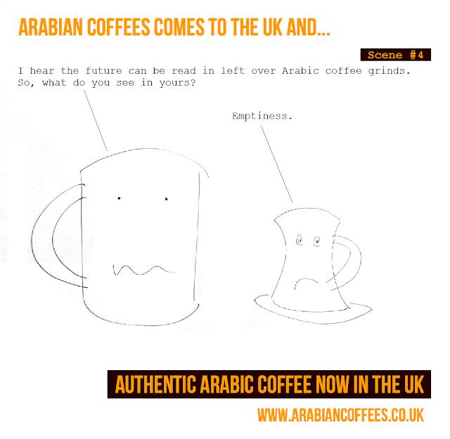 Arabian Coffees Cartoon, Coffee Grinds