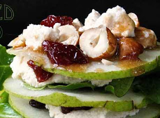 Vegan Goat Cheese Stacked Salad