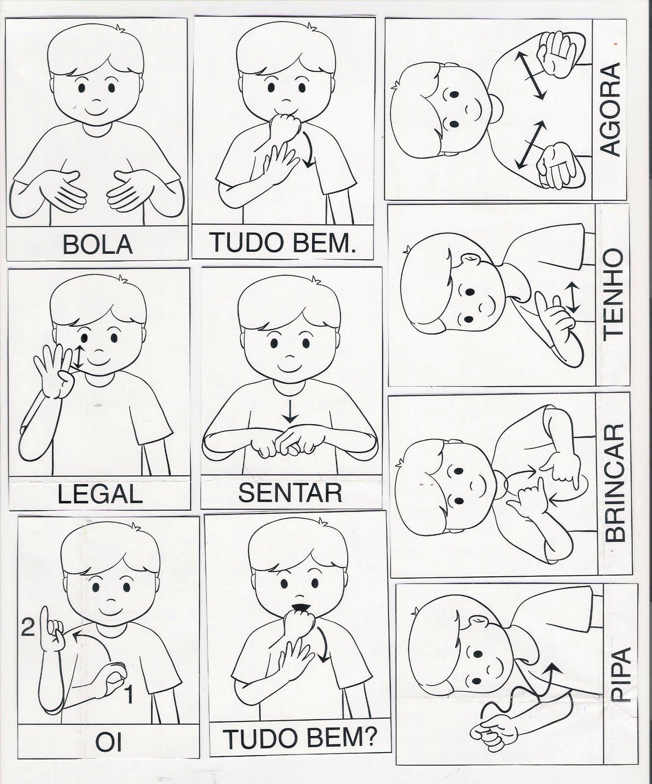 LIBRAS Inglês e Espanhol para Ed. Infantil: Libras #6F695C 1332 1600