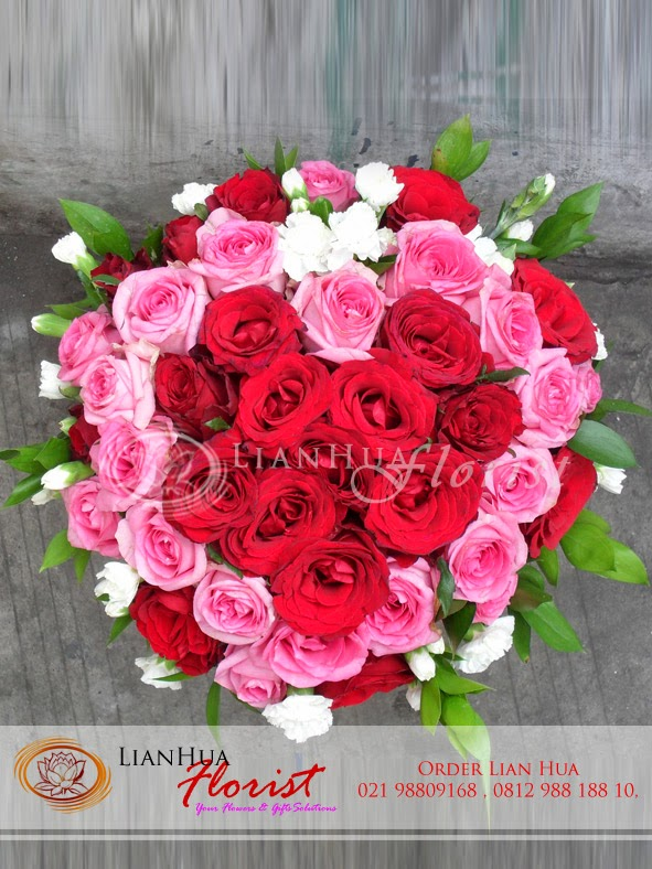 Bunga mawar, bunga untuk pacar, bunga berbentuk hati, toko bunga di jakarta, bunga ulang tahun
