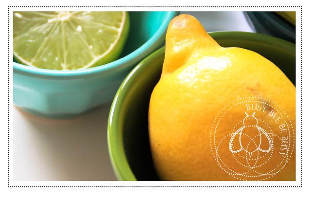 Zitrone in Schälchen
