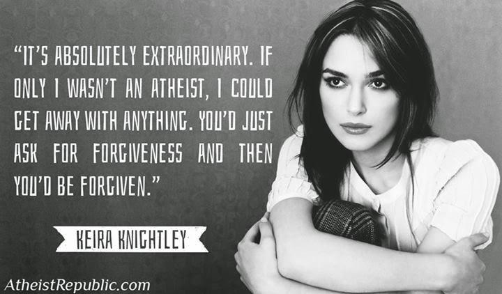 Keira=atheist