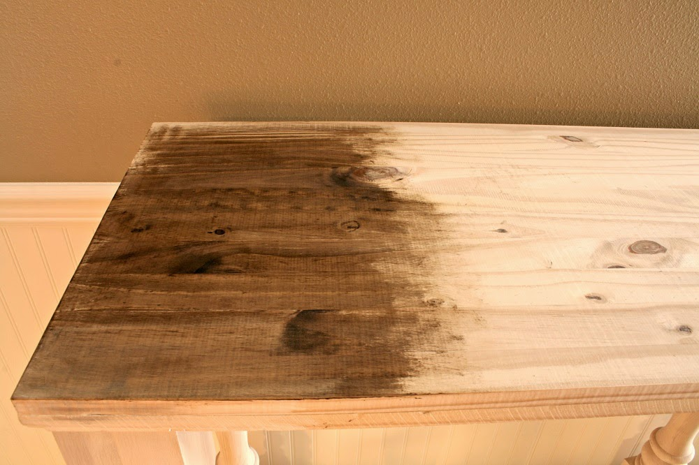 Dark wax, annie sloan, diy kitchen island, narrow kitchen island, kitchen console, annie sloan stripped paint finish