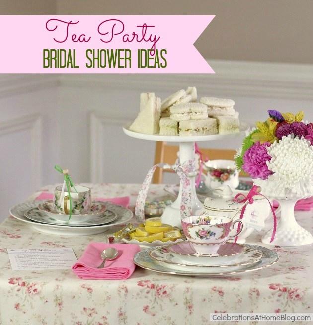 Jackie fo unique bridal shower ideas for Unique tea party ideas