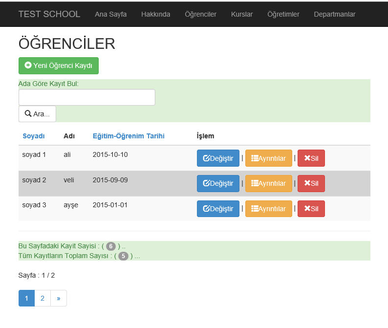 Mvc razor alternating row style with bootstrap sample for Bootstrap table row color