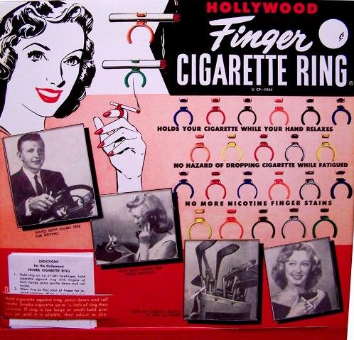 Um produto revolucionário para os fumantes, diretamente de 1954.