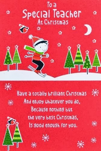 Popular Christmas Card With Message For Teachers 2013