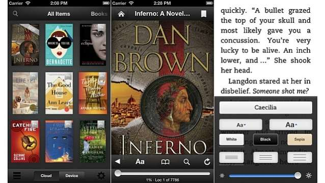 Kindle for iOS App gets updated; lets users decide the line spacing of the text