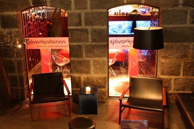 Restaurante Sjávarkjallarinn en Rekiavik, Islandia
