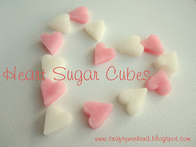 Heart sugar cubes wedding favours baby shower