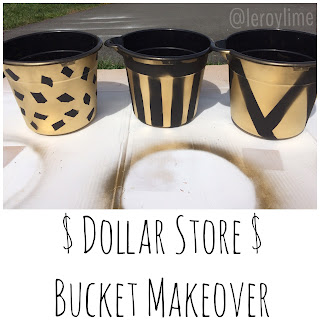 Dollar Store Bucket Makeover GOLD