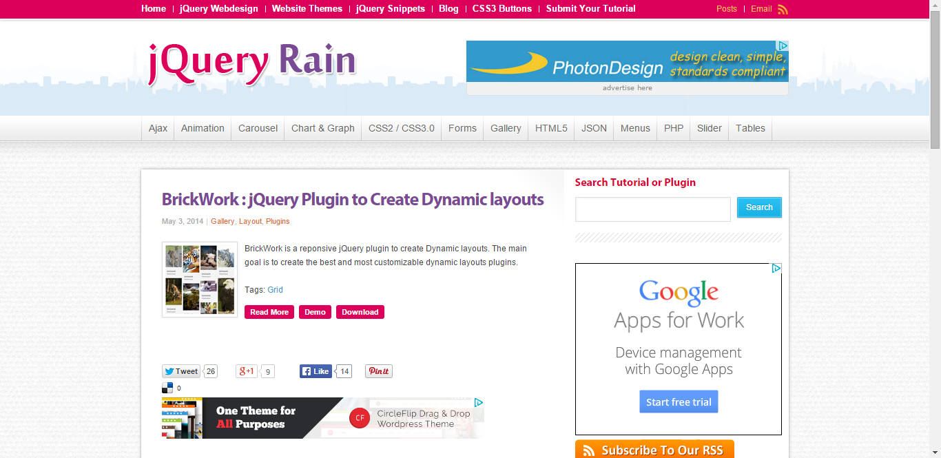 Google jquery themes - It Helps You Create Dynamic Layout That Can Be Customized To No End When It Comes To Responsive Jquery Plugins This Is One Of The Most Time Saving Ones