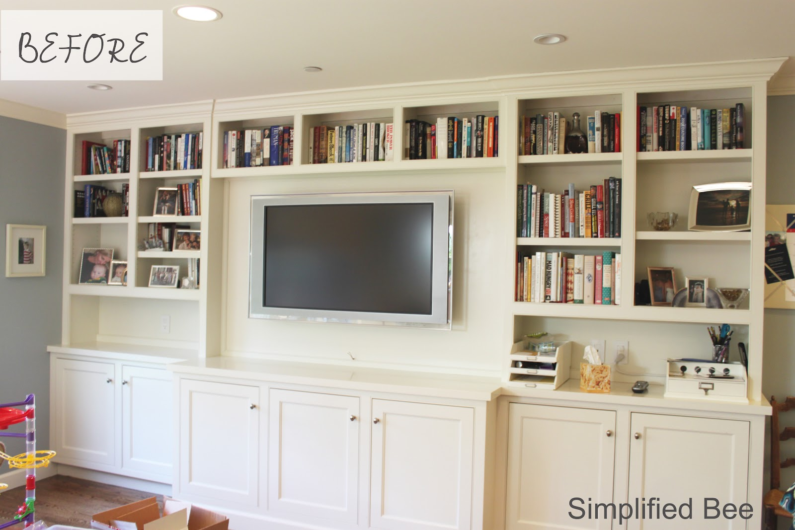 Bookshelf Styling Before After Michaela Noelle Designs