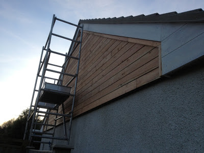 gable timber-cladding almost finished