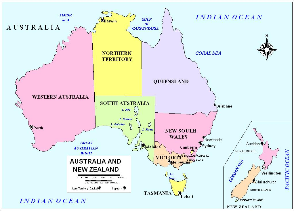 Geography Blog Political Maps Australia - Political map of australia