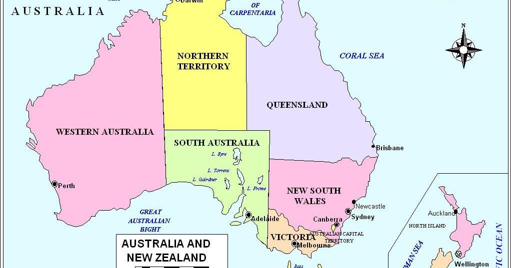 Online Maps Australia Political Map - Political map of australia