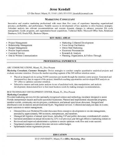 resume samples  social media consultant resume