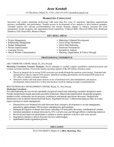 resume sles social media consultant resume