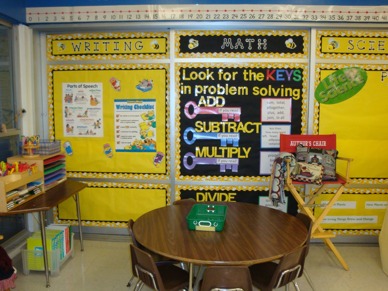 Classroom Theme Ideas Bees ~ Clutter free classroom bee themed photos tips