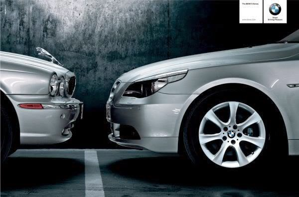 jaguar bmw advert wars