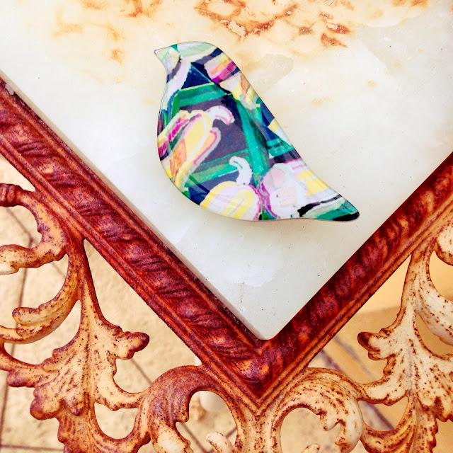 accessory bird brooch opshop