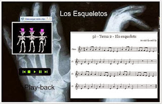 partitura de los esqueletos