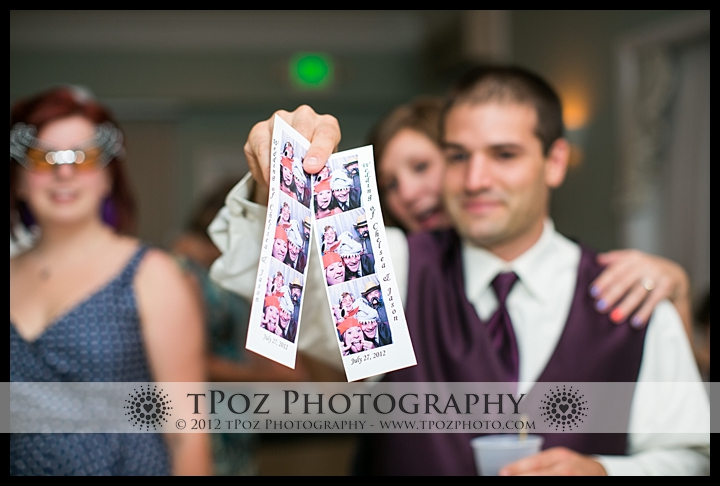Kurtz's Beach Wedding Reception photobooth