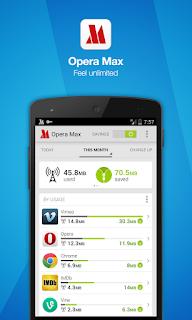 Screenshot Opera Max  Aplikasi untuk menghemat Internet Android