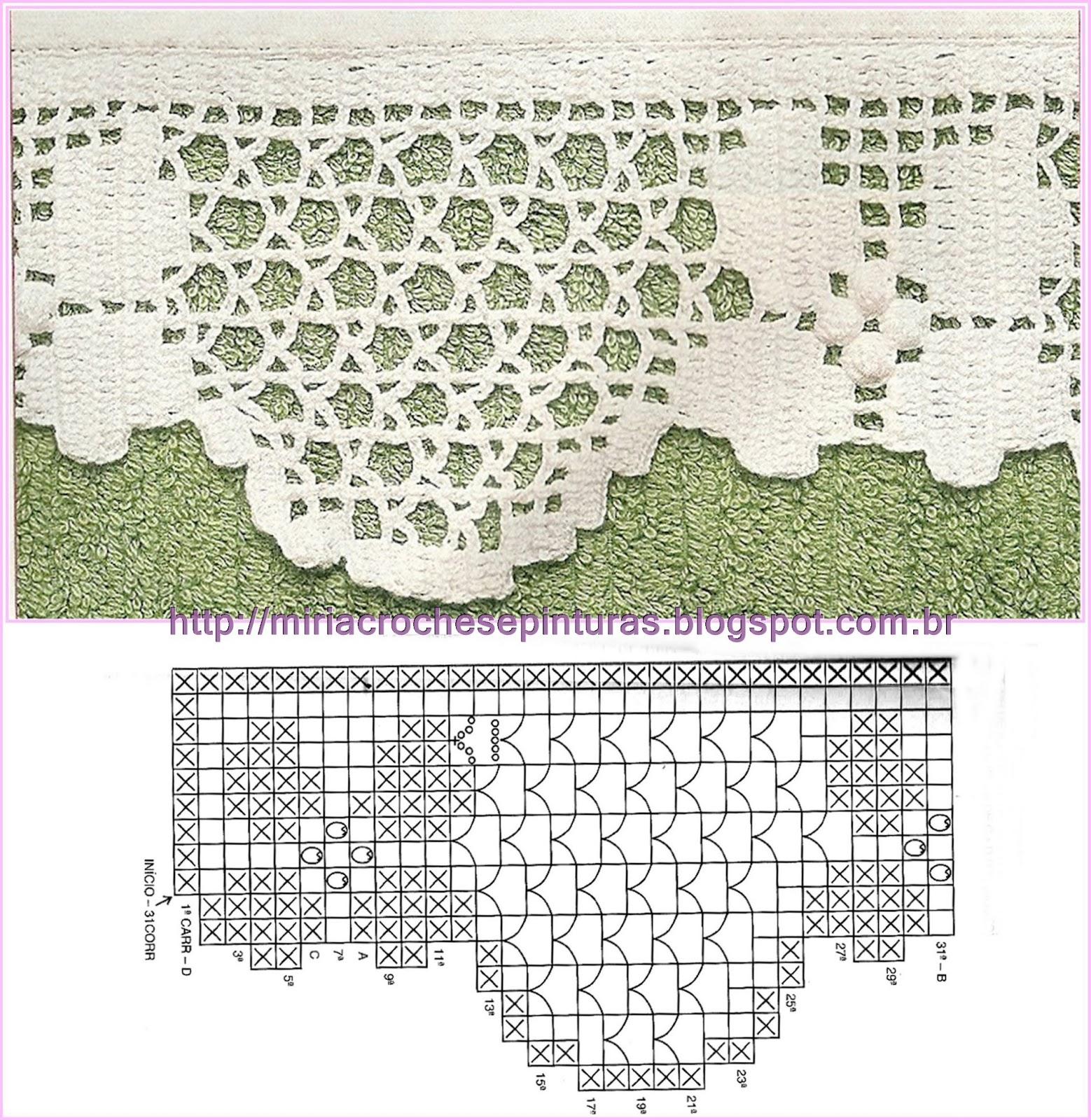 Modelinhos De Barrados De Croch   Para Toalhas