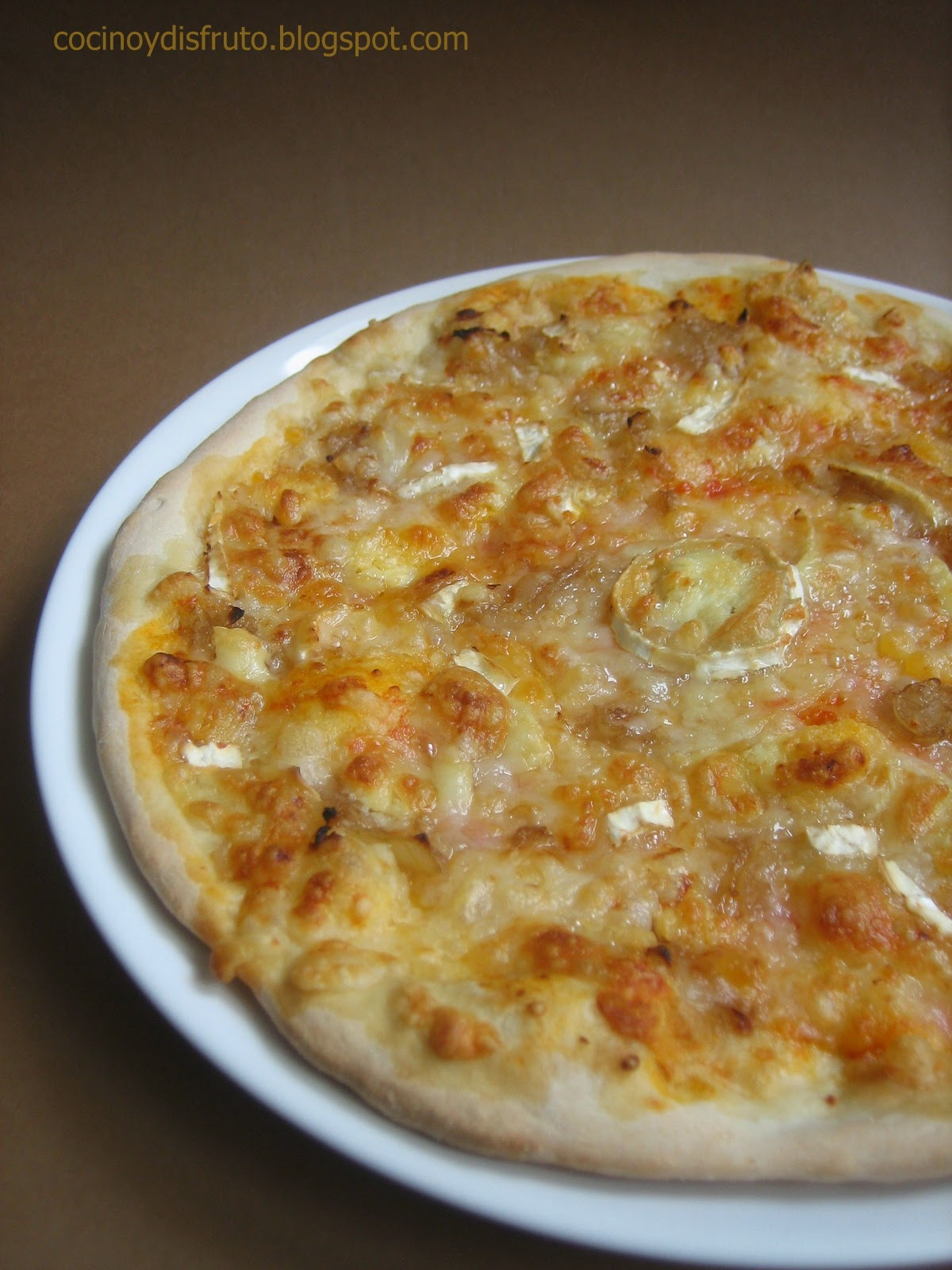 Cocino y disfruto pizza de queso de cabra y cebolla - Queso de cabra y colesterol ...