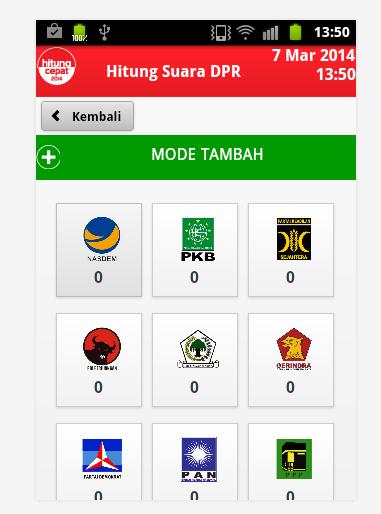 Applikasi Pemilu di Android
