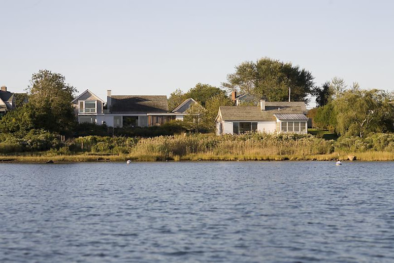 exterior of a lake house in Montauk on Long Island
