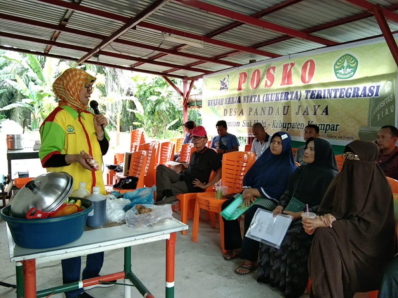 Kukerta Terintegrasi UNRI Latih Ibu PKK Desa Pandau Jaya
