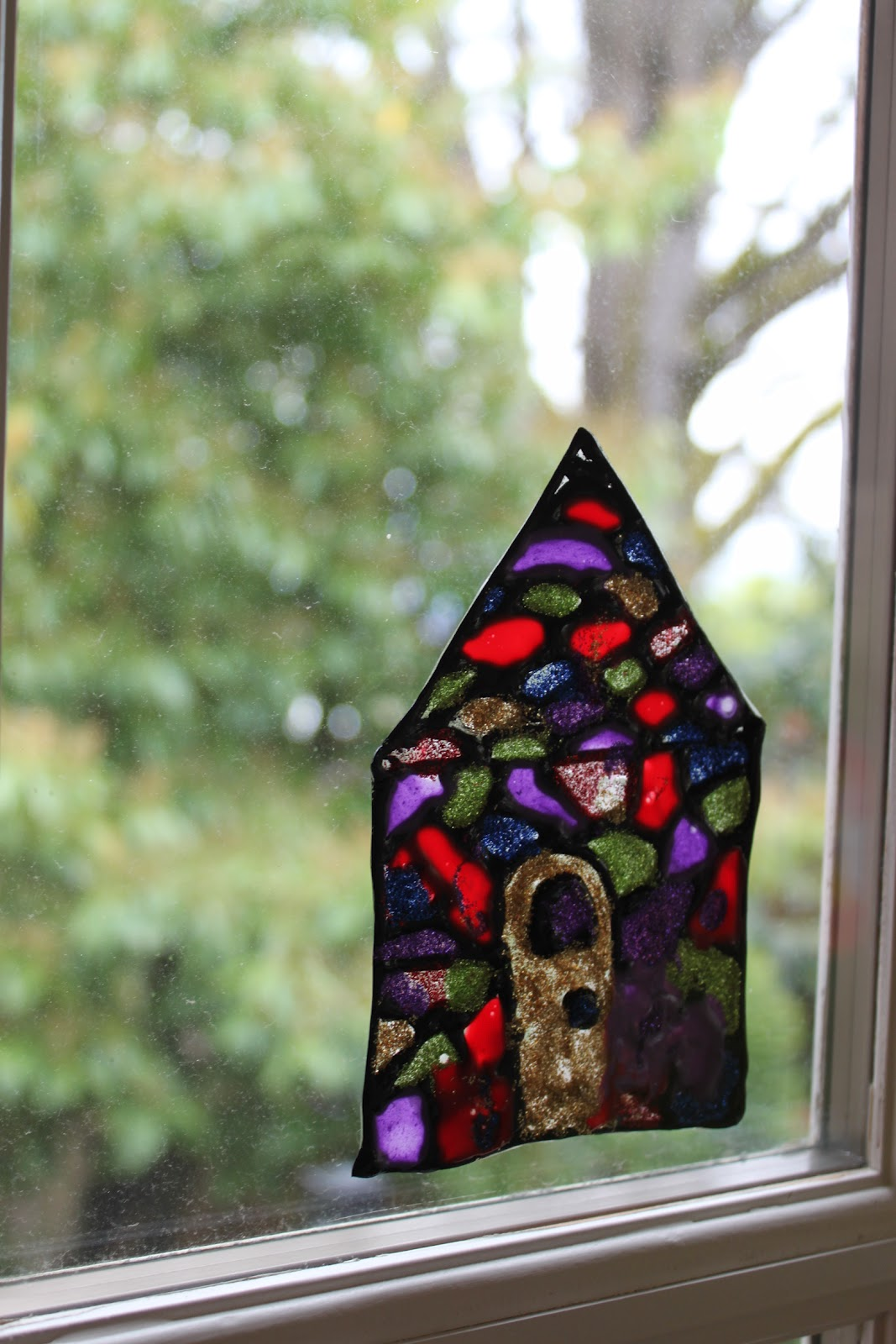 Stained Glass Art Suncatcher