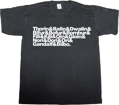 the hobbit Gandalf LOTR helvetica t-shirt ephemeral-t-shirts tolkien