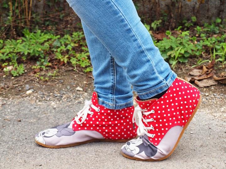 chaussures avec Minnie