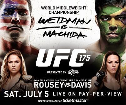 UFC 175: Weidman vs. Machida & Rousey vs. Davis UFC+175