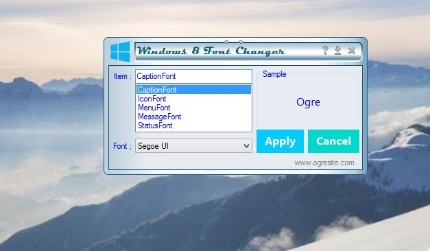 how to change windows 8 font style