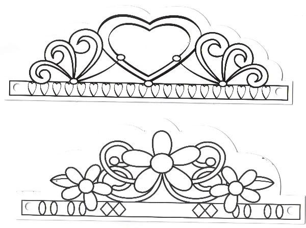 Manualidades para niños: Corona corazón y flores
