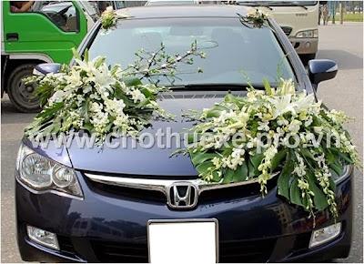 Mẫu hoa xe cưới giá 1,2 triệu XH 023