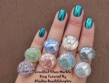 crackle glass ring tutorial