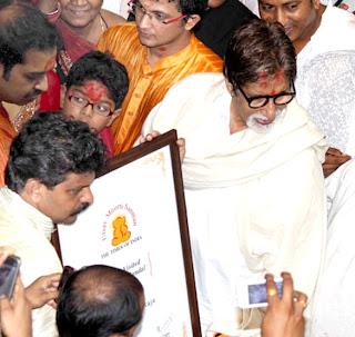 Amitabh visit Lalbaug Cha Raja