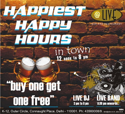 Happy Hours at Live Bar & Restaurant