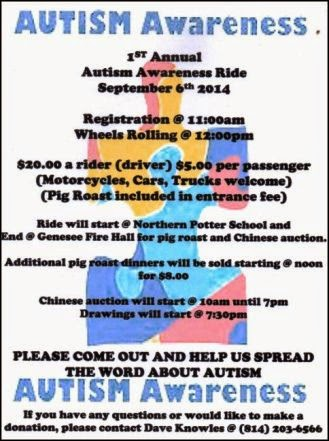 9-6 Autism Awareness Ride